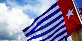 La bandera de Papua Occidental.