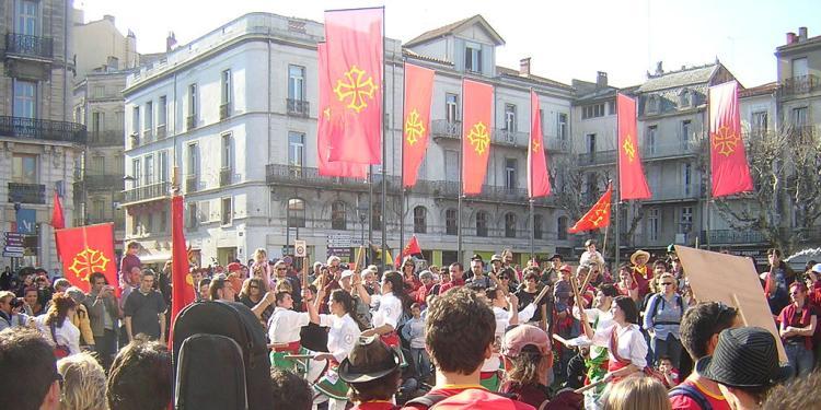 Una de les manifestacions fetes per l'occità (Besiers, 2007).