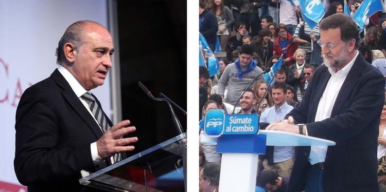 Fernández Díaz (esquerra) i Rajoy (dreta).