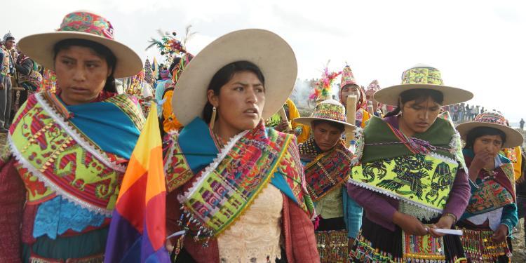 Dones líders comunitàries del nord de Potosí (Bolívia).