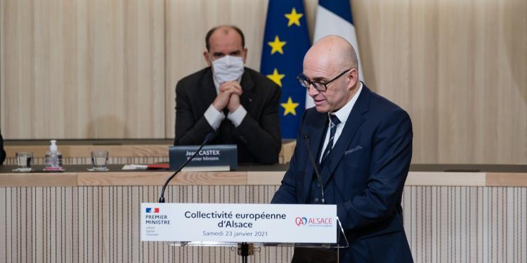 Frédéric Bierry parla davant de Jean Castex.