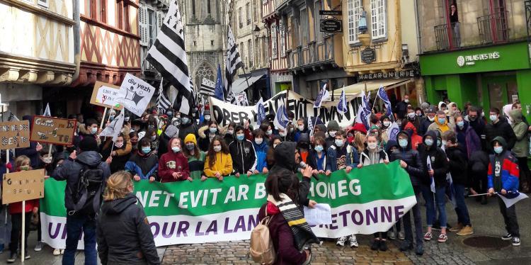 La manifestació a Kemper.